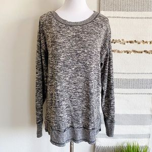 Knox Rose Heathered Raw Hem Sweater